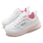 Fila 休閒鞋 J327V 白 粉紅 大氣墊 全氣墊 女鞋 小白鞋 微增高 運動鞋 【ACS】 5J327V151