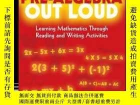 二手書博民逛書店Pre-Algebra罕見Out Loud: Learning Mathematics Through Readi