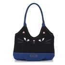 啵啵貓 黑貓犀利眼神側背包/側背包/拼布包包
