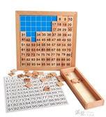 數學益智早教玩具2-3-4歲寶寶兒童學習1-100數字拼圖卡片智力 道禾生活館