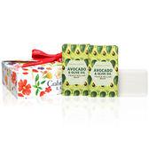 【Crabtree & Evelyn瑰珀翠】酪梨&橄欖油 柔嫩皂三入禮盒