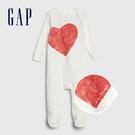 Gap嬰兒童趣愛心信封式長袖連體服524...