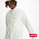 Levis 男款 條紋襯衫 / Oversize寬鬆版型 / 單口袋