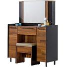 化妝台 SB-527-3 畢卡索3尺雙色鏡台(含椅)(右門內附活動隔板一片)【大眾家居舘】