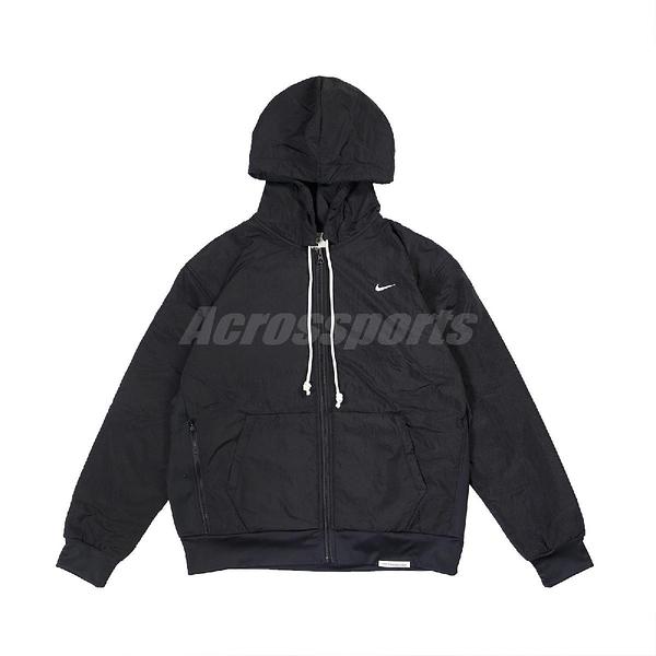 Nike 外套 Standard Issue Winterized Basketball Hoodie 黑 白 男款 連帽外套 運動休閒【ACS】 CK6806-010
