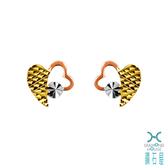 【鑽石屋】愛心造型K金耳環