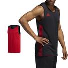 Adidas 3G Speed 愛迪達 黑紅 白 雙面穿團體籃球服 球衣 透氣 上衣 刺繡 無袖 背心 DY6588