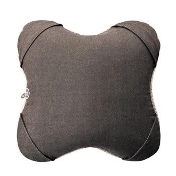 Lourdes日式溫熱揉捏V型按摩抱枕(深棕色)288db
