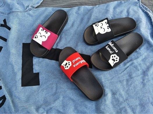 FINDSENSE Z1 日系 女 時尚 潮流 卡通喵星人 防滑沙灘拖鞋 室內拖