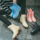 雨鞋 雨鞋女中筒雨靴成人防水套鞋可愛短筒膠鞋防滑時尚水鞋 喵小姐