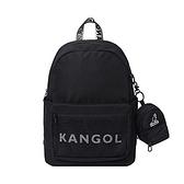 KANGOL 黑色後背包-NO.6125174020