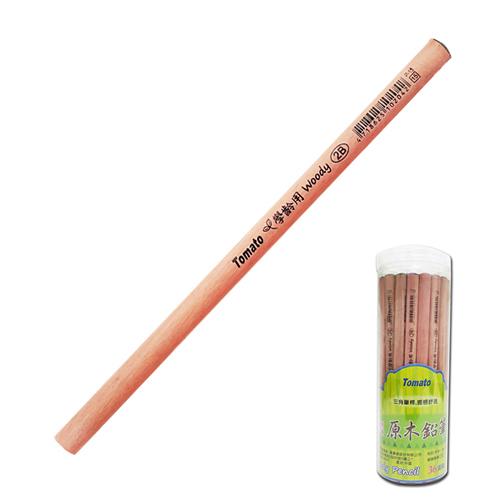 【Tomato】P-15 學齡用大三角原木鉛筆