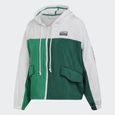 L- adidas ORIGINALS WINDBREAKER 白綠 風衣 外套 女 休閒 運動 撞色 復古 ED7433