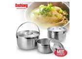 Dashiang 316不鏽鋼三件式提鍋 16+19+22cm 湯鍋 調理鍋 萬用鍋 內鍋 料理鍋 台灣製造