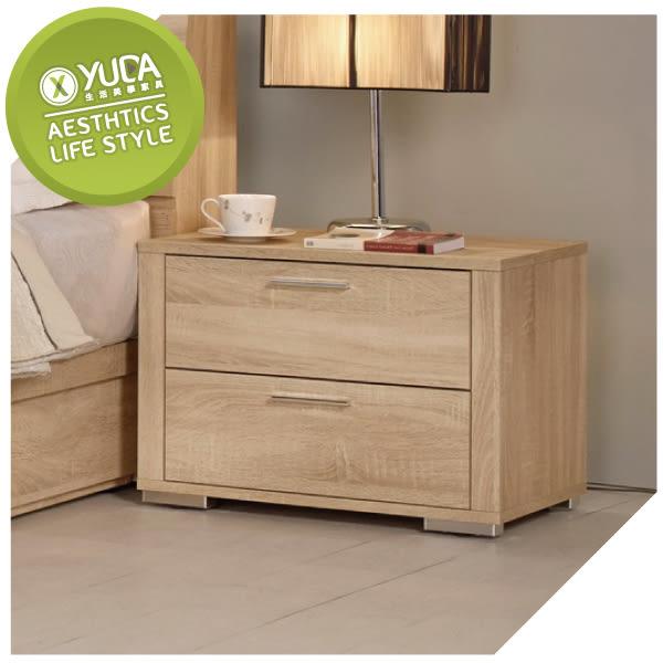 床頭櫃【YUDA】格瑞斯 1.9尺 床頭櫃/床邊櫃/床邊箱 J8M 073-5
