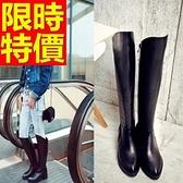 過膝馬靴-浪漫流行皮革女長靴62l19【巴黎精品】