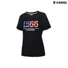 K-Swiss 1966 Logo Tee印花短袖T恤-女-黑