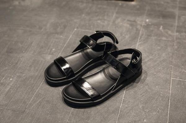FINDSENSE MD 日系 時尚 潮 男 高品質 頭層牛皮 露趾 加厚鞋底