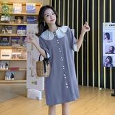 初心 赫本風格洋裝【D8430】 詮釋優雅 短袖 翻領 洋裝
