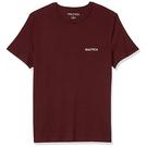 NAUTICA 男酒紅色圓領T恤衫