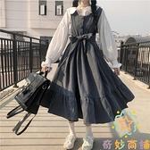 背心裙吊帶裙裙子女裝顯瘦收腰連身裙【奇妙商鋪】