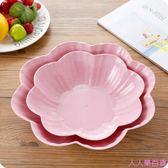 創意歐式家用水果盤客廳茶幾塑料糖果盤干果盤辦公室零食盤小果盤