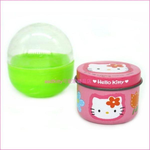 asdfkitty可愛家☆扭蛋系列-KITTY鐵皮小空罐-有氧化-日本正版商品