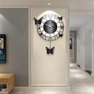 掛鐘 創意家用掛鍾客廳裝飾表現代簡約鍾表個性時鍾臥室靜音石英鍾掛表 店慶降價