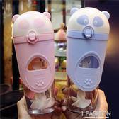 水杯塑料杯子可愛女水杯學生攪拌杯耐摔手動個性卡通可愛吸管杯萌 Ifashion
