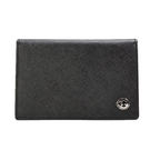 GINZA U 獨家日系防刮牛革名片證件夾名片夾信用卡夾(黑色)350009