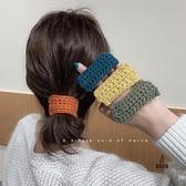 簡約毛線頭繩女皮套氣質秋冬皮筋女扎頭髮圈【愛物及屋】