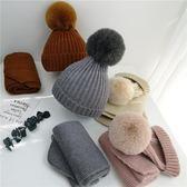 年終大清倉寶寶帽子秋冬韓版圍巾兒童毛線帽男童女童帽子圍脖兩件套秋冬季7色