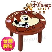 【Disney】台灣製奇奇大頭造型矮凳椅子(Disney正版授權)
