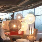 吊燈 客廳餐廳吧台創意藝術奶茶店藤藝手工球形鳥巢燈具YTL 鹿角巷