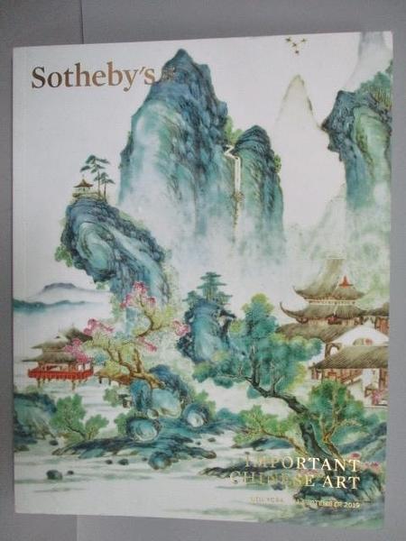 【書寶二手書T5/收藏_PEH】Sotheby s_Important Chinese Art_2019/9/11