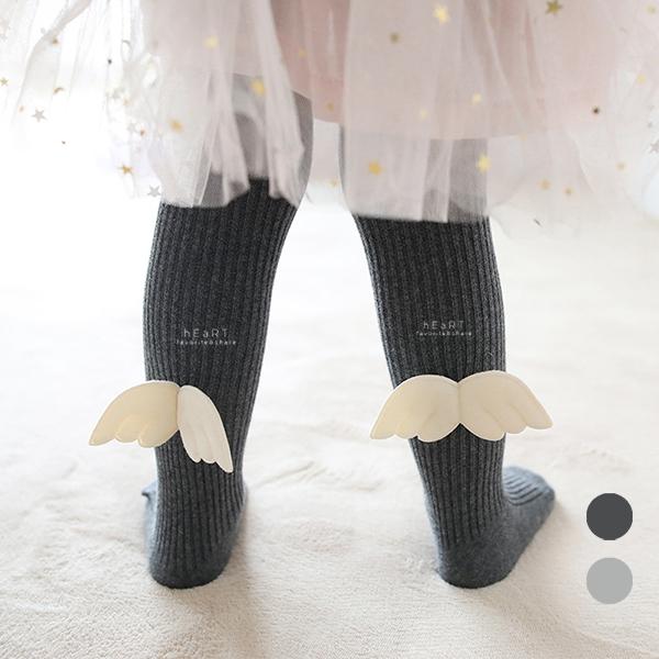 小天使翅膀保暖包腳褲襪 內搭褲 童襪