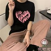 原創韓版復古T恤女短袖寬松百搭純棉上衣春夏季潮【桃可可服飾】