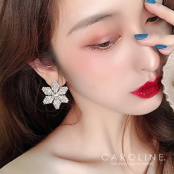 《Caroline》★韓國熱賣造型時尚 Bling  Bling 絢麗閃亮動人 耳環70832