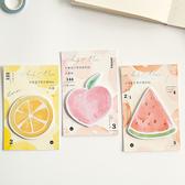 【BlueCat】水彩風格水果籃子系列便利貼 N次貼 便條紙