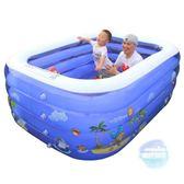 充氣泳池 新生兒童游泳池家用充氣超大號幼兒童游泳加厚室內小孩寶寶洗澡桶T 1色