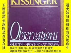 二手書博民逛書店HENRY罕見KISSINGER OBSERVATIONS 1982-1984Y365734