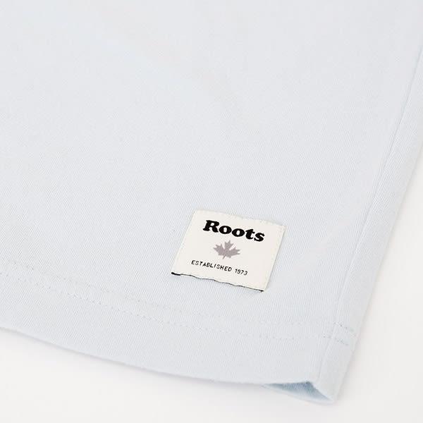 男裝Roots 左胸LOGO短袖T恤 - 藍色