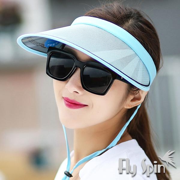防曬帽子-女款輕量抗紫外線UV網球髮夾空心帽14SS-V001 FLY SPIN