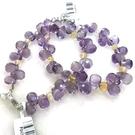 『晶鑽水晶』天然紫水晶搭配黃水晶手鍊 特級鑽石切割~超高淨度~光亮度超優~送禮.禮物~附禮盒