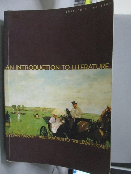 【書寶二手書T2/文學_ZAD】An Introduction to Literature-Fiction_Barnet