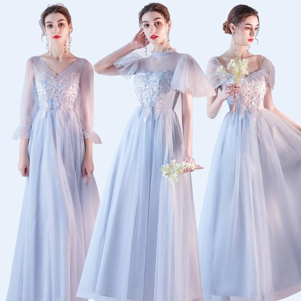 伴娘禮服2021新款顯瘦女姐妹團春夏平時可穿簡約大氣仙女氣質裙子 伊蘿 99免運