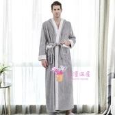 浴袍 睡袍女秋冬珊瑚絨浴袍情侶法蘭絨睡衣加絨加厚加長款男士冬季浴衣X-XL碼 多款