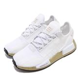adidas 休閒鞋 NMD_R1 V2 W 白 金 女鞋 運動鞋 襪套式 【PUMP306】 FW5450