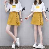 2019夏季新款時尚兩件套女氣質套裝裙子女初戀裙學生小清新連身裙『艾麗花園』