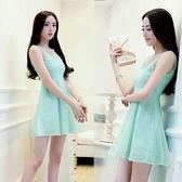 【韓國K.W.】(現貨在台) 公主風‧歐根?拼接雪紡蕾絲連衣裙